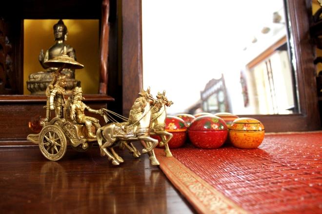 Arjun and Krishna on the chariot