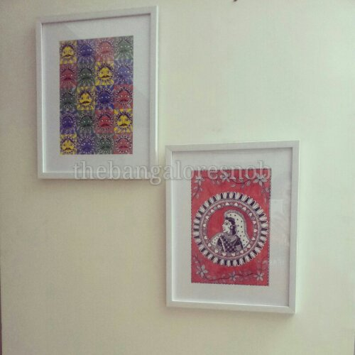 Framed Madhubani Painting