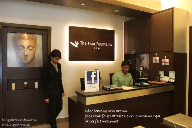 The Four Fountains Spa Reception