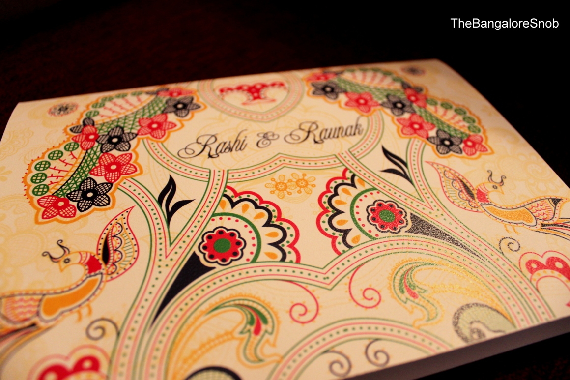 Getting a Wedding Card made in Bangalore