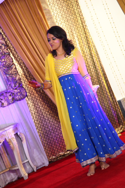 My Blue and Yellow Anarkali