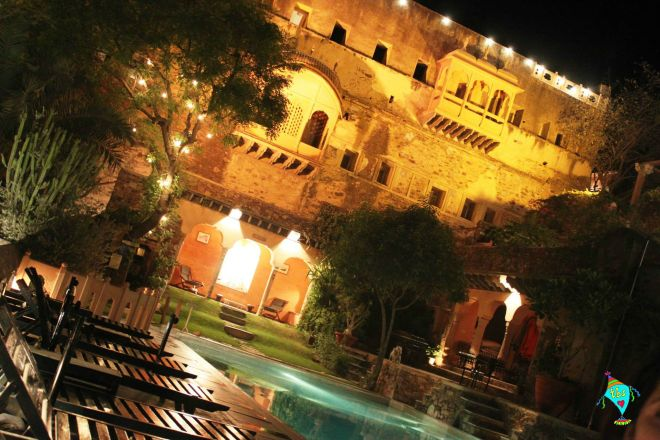Neemrana Pool Side at Night